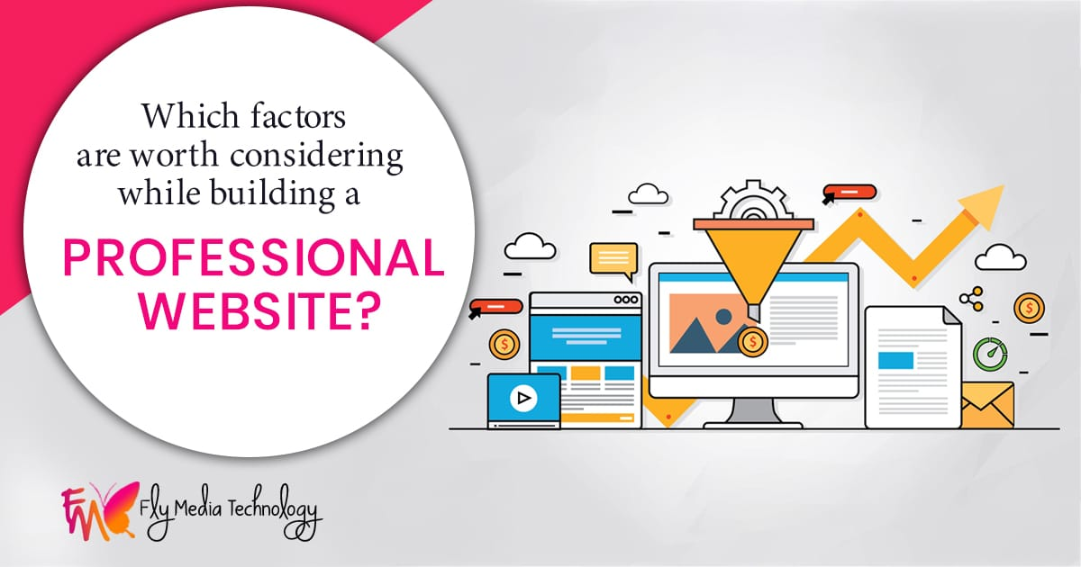 Which factors are worth considering while building a professional website?